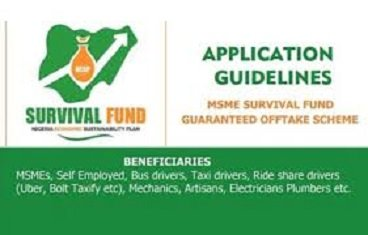 National MSMEs Survival Fund | Survivalfund.gov.ng